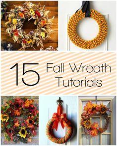 15 Fall Wreath Tutorials