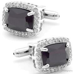 India Black Cufflinks, Fine Men's Jewelry by Cufflilnksman