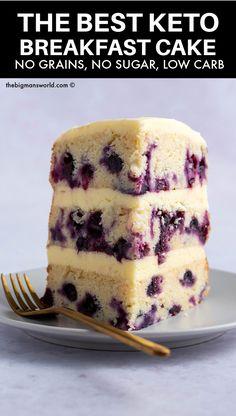 Low Carb Sweets, Low Carb Desserts, Low Carb Recipes, Breakfast Cake, Low Carb Breakfast, Bon Dessert, Dessert Recipes, Comida Keto, Keto Cake