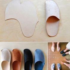 Patrones para hacer pantuflas