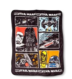 Disney Star Wars Classic Character Plush Throw Blanket  50 x 60 ** For more information, visit image link-affiliate link.