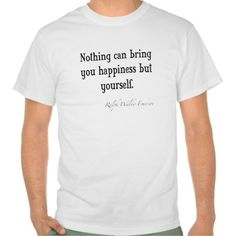 Vintage Emerson Happiness Inspirational Quote T Shirts #Personalized #tshirt