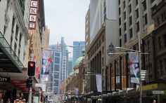 Busy Downtown Sydney, Australia #downtowns #ThePurplePassport