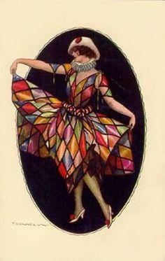 370 best Harlequin, Colombina e Pierrot images on Pinterest   Art ...