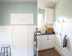 Sweet laundry room..