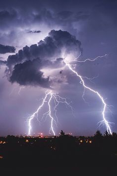 Cloud to ground lightning