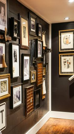 Black Shiplap Hallway Gallery Wall