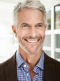 Dan Sullivan, Model and Handsome Gray Haired Man.