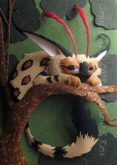 """""""Creature"""" - paper art sculpture by Matthew Ross"""