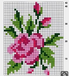 pattern / chart for cross stitch, knitting, knotting, beadi Mini Cross Stitch, Cross Stitch Heart, Cross Stitch Borders, Cross Stitch Flowers, Cross Stitch Designs, Cross Stitch Patterns, Cat Cross Stitches, Cross Stitching, Cross Stitch Embroidery