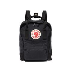 Fjallraven Kanken Mini Backpack (3.660 RUB) ❤ liked on Polyvore featuring bags, backpacks, black, fjallraven backpack, miniature backpack, mini rucksack, logo backpacks and rucksack bags