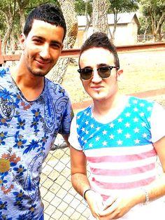 avec le grand acteur zarouta Youcef a parc zoo a Jijel