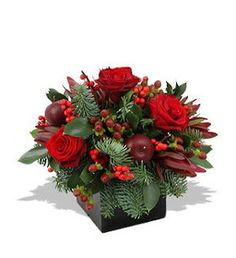 Christmas Box Arrangement - Christmas Flowers for delivery NZ wide