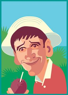 Sidekick Gilligan by jimmyemery on deviantART Cartoon Drawings, Movie Stars, Dawn, Sketches, Island, Caricatures, Painting, Fictional Characters, Medicine