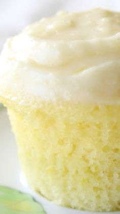 Cloud Like Lemon Cupcakes Recipe ~ The cake's texture resembles that of a cloud, irresistibly soft and puffy. The dough contains a subtle tanginess from the lemon juice and zest, complemented perfectly by the decadent cream cheese frosting.