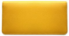 Yellow Leather Checkbook Cover
