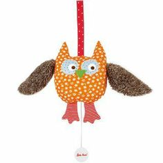 "Kathe Kruse Musical Toy 7"" Alba The Owl by Kathe Kruse. $31.99. From the Manufacturer                Kathe Kruse's Musical Alba the Owl 7"" toy is a wonderful companion for any child. Alba the Owl can be connected to nearly anything by his hook and loop Velcro fastener. Hand made from the highest quality polyester cotton, this wonderful Kathe Kruse original musical toy is appropriate for any child, including newborns. Alba the Owl plays a soothing, gentle lullaby ..."