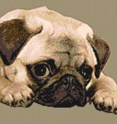 pug cross stitch