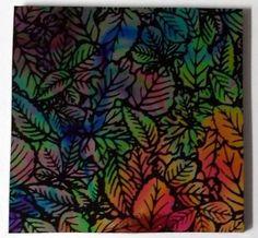 Thin Black Corkscrew Multi-Color 'Flora Small' 90 COE Dichroic Glass #Profusion