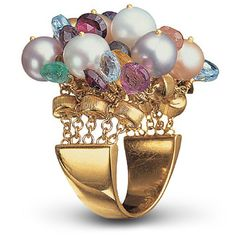 MARCO BICEGO | Pearl and Gemstone Ring | {ʝυℓιє'ѕ đιåмσиđѕ&ρєåɾℓѕ}