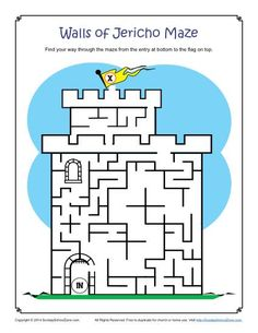 joshua and the wall of jericho activities - Google Search
