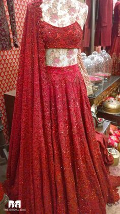Sabyasachi Hochzeit Lengha - New Ideas Red Lehenga, Indian Lehenga, Bridal Lehenga, Lehenga Choli, Sari, Pakistani Dresses, Indian Dresses, Indian Outfits, Indian Wedding Gowns