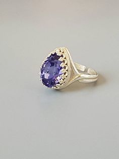 Check out this item in my Etsy shop https://www.etsy.com/uk/listing/272141348/silver-plated-ring-swarovski-purple