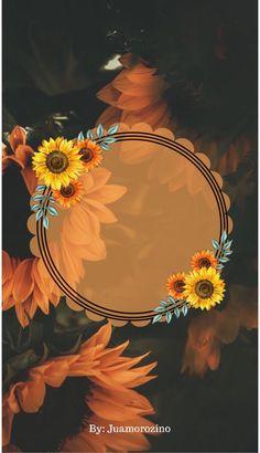 Monogram Wallpaper, Framed Wallpaper, Flower Background Wallpaper, Flower Backgrounds, Wallpaper Backgrounds, Instagram Emoji, Instagram Frame, Watch Wallpaper, Apple Wallpaper