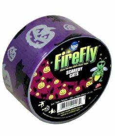"Firefly Glow in The Dark Halloween Duct Tape 1 88"" x 10 Yard Craft Scaredy Cats | eBay"