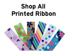 Fun printed grosgrain ribbon for making hair bows and other DIY crafts. www.boutiquesupplyco.com