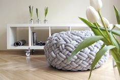 knotty floor pouf by (KUMEKO) I want a couple of these for the lake house Diy Furniture, Modern Furniture, Furniture Design, Turkish Furniture, Deco Design, Design Design, Floor Cushions, Chair Cushions, Decor Pillows