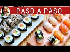 Cómo hacer sushi casero en 5 pasos: receta fácil   Paulina Cocina Tempura Sushi, Sashimi Sushi, Sushi Restaurants, Cubes, China Food, How To Make Sushi, Homemade Sushi, Sushi Rolls, I Foods