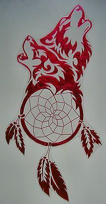 WICOART STICKER WINDOW COLOR CLING FAUX STAINED GLASS DREAMCATCHER LOUPS WOLFS: Plus Plus