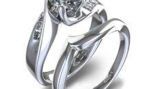 wedding rings for women white gold cool