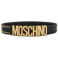 cf1ebe07367d Moschino Leather Belt ( 310) ❤ liked on Polyvore featuring accessories