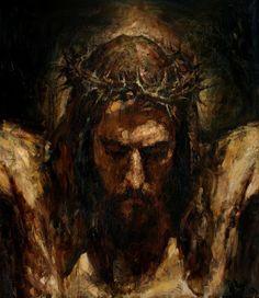 Christ on the Cross cm, oil on canvas, 2013 Anatoly Shumkin God and Jesus Christ Catholic Art, Religious Art, Image Jesus, La Pieta, Jesus Painting, The Cross Of Christ, Jesus Cross, Jesus Art, Biblical Art