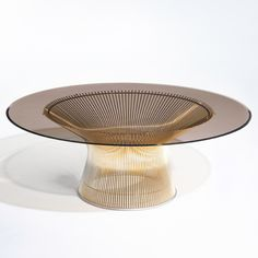 Platner Low Table in 18k gold finish