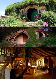 Cool Tree Houses, Fairy Houses, Casa Dos Hobbits, Earthship Home, Fairytale House, Storybook Homes, Medieval Houses, Beautiful Architecture, Inspired Homes