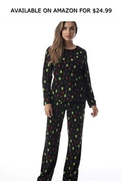 1d3e9ac202 Just Love Thermal Fleece Pajamas for Women ◇ AVAILABLE ON AMAZON FOR    24.99 ◇ CUTE