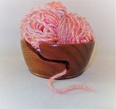 Wood turned yarn bowl In stock ready for dispatch