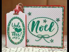 Christmas Cards & Tags Part 2 - JanB UK Stampin' Up! Demonstrator Indepe...