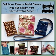 Free Sewing Pattern: Cell Phone Case – Tablet Sleeve