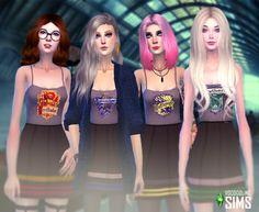 Cette image que j'ai trouvée splendide, moi qui suit une grande fan des Sims 4 ET de Harry Potter . Bonne journée . Harry Potter Dress, Harry Potter Outfits, Tumblr Sims 4, Mods Sims, Hogwarts Uniform, Sims Packs, Harry Potter Images, Sims 4 Dresses, Sims Four