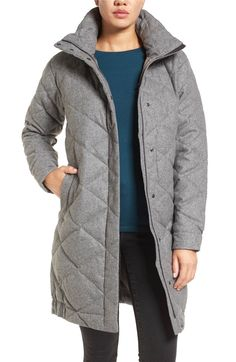 Main Image - Nau Wool Blend Quilted Down Coat