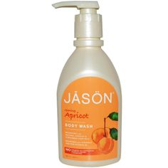 Jason Natural, Body Wash, Glowing Apricot