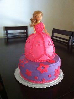 Barbie birthday cake.  Cake by: Bella Baby Cakes