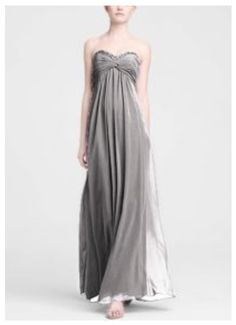 Light grey bridesmaid dresses from David's bridal.