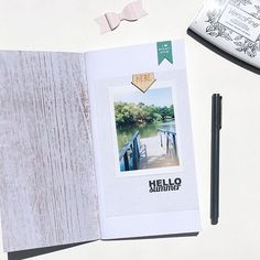 WEBSTA @ kathrynquintana - I am following along with #littlesummerjoy in my #travelersnotebook and am enjoying this laid back approach to documenting summer.  This photo captures the feeling I want to create this summer and sets the tone for capturing the details of summer.