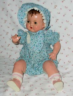 "RARE -- Early 1940s Effanbee SUGAR BABY 18"" Composition Doll -- All Original"
