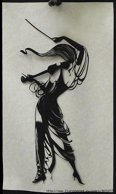 """Paper Sculpture - """"Musician"""" (Artist Unknown)"""